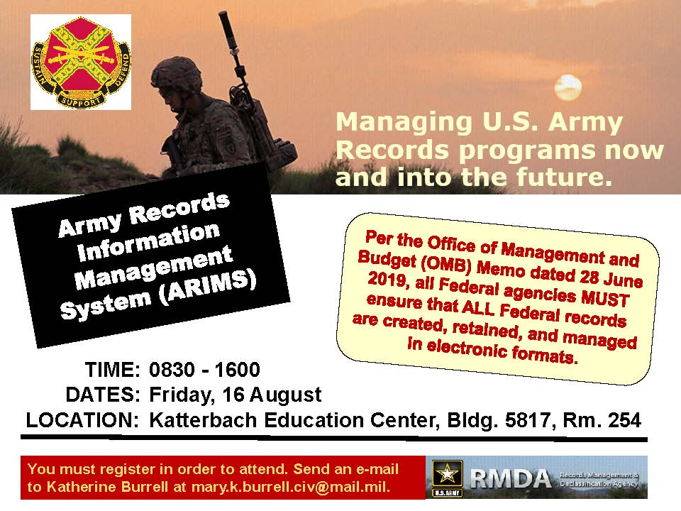Records Management Training Aug. 16!