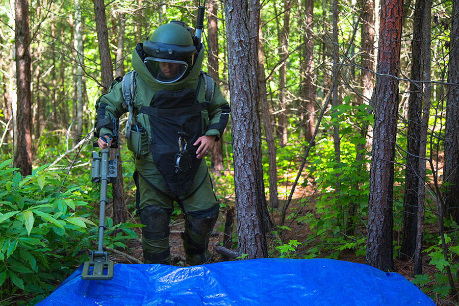 EOD training on Fort A.P. Hill