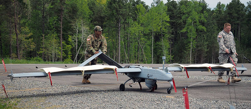 RQ-7 Shadow Unmanned Aerial Vehicle at Lowe Field