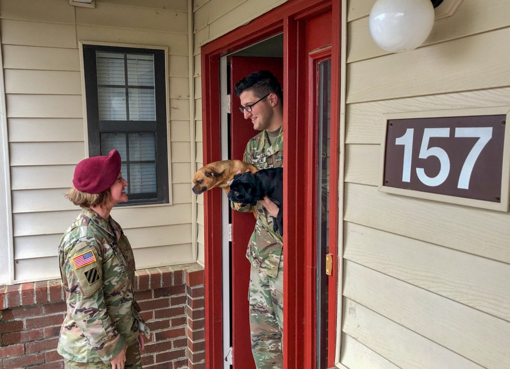 Command visits ensure healthy, safe living conditions