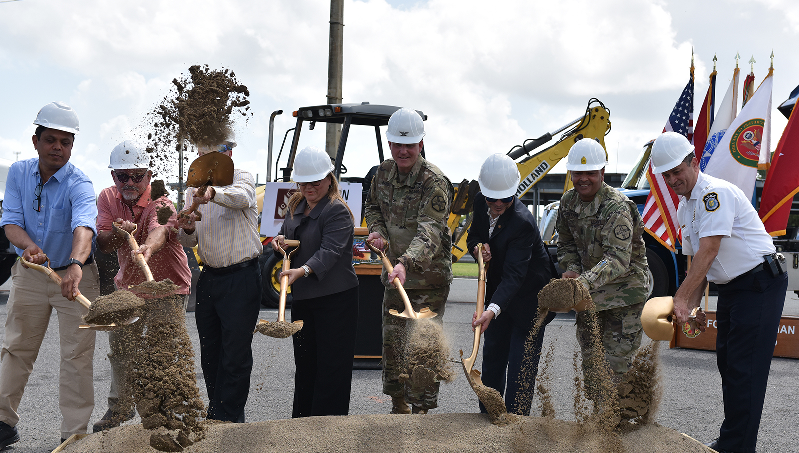 GROUNDBREAKING CEREMONY AT THE BORINQUENEERS' GATE