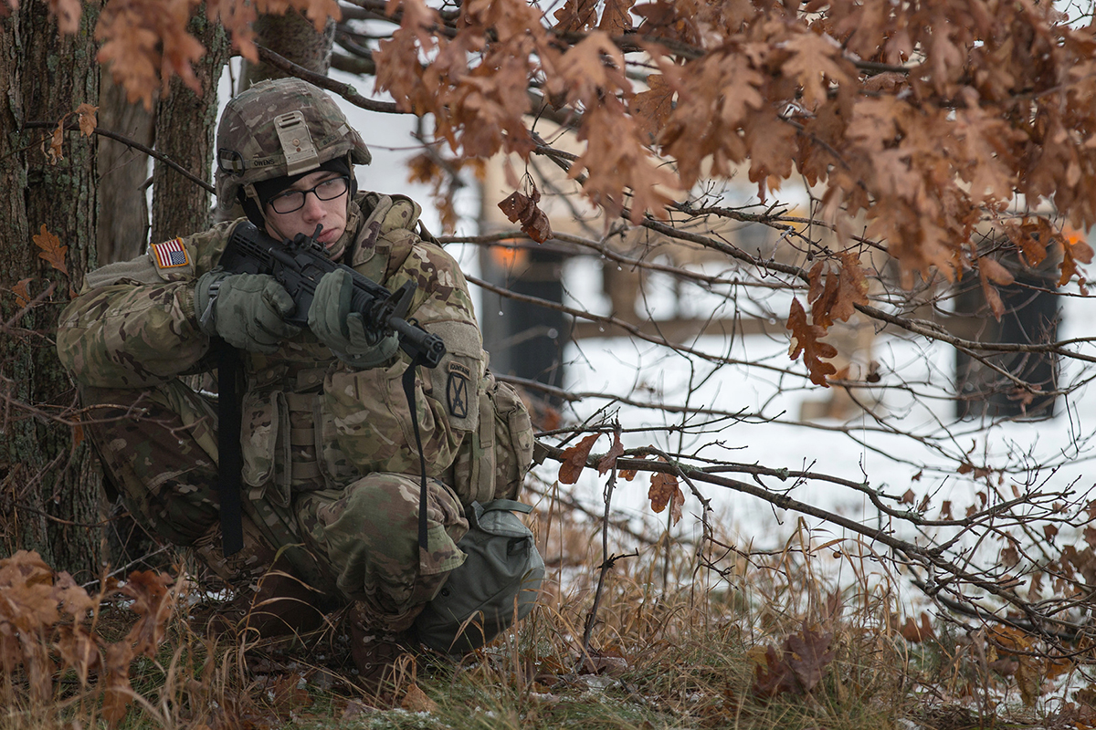 10th Mountain Division Soldiers conduct training on Fort Drum