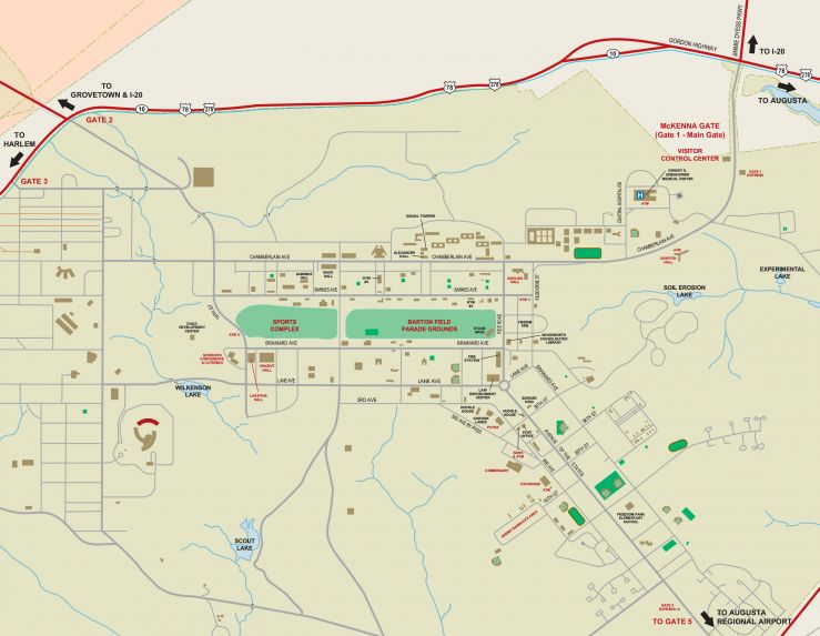 Fort Gordon Map