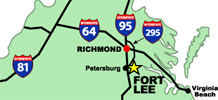 Directions to Fort Lee Map