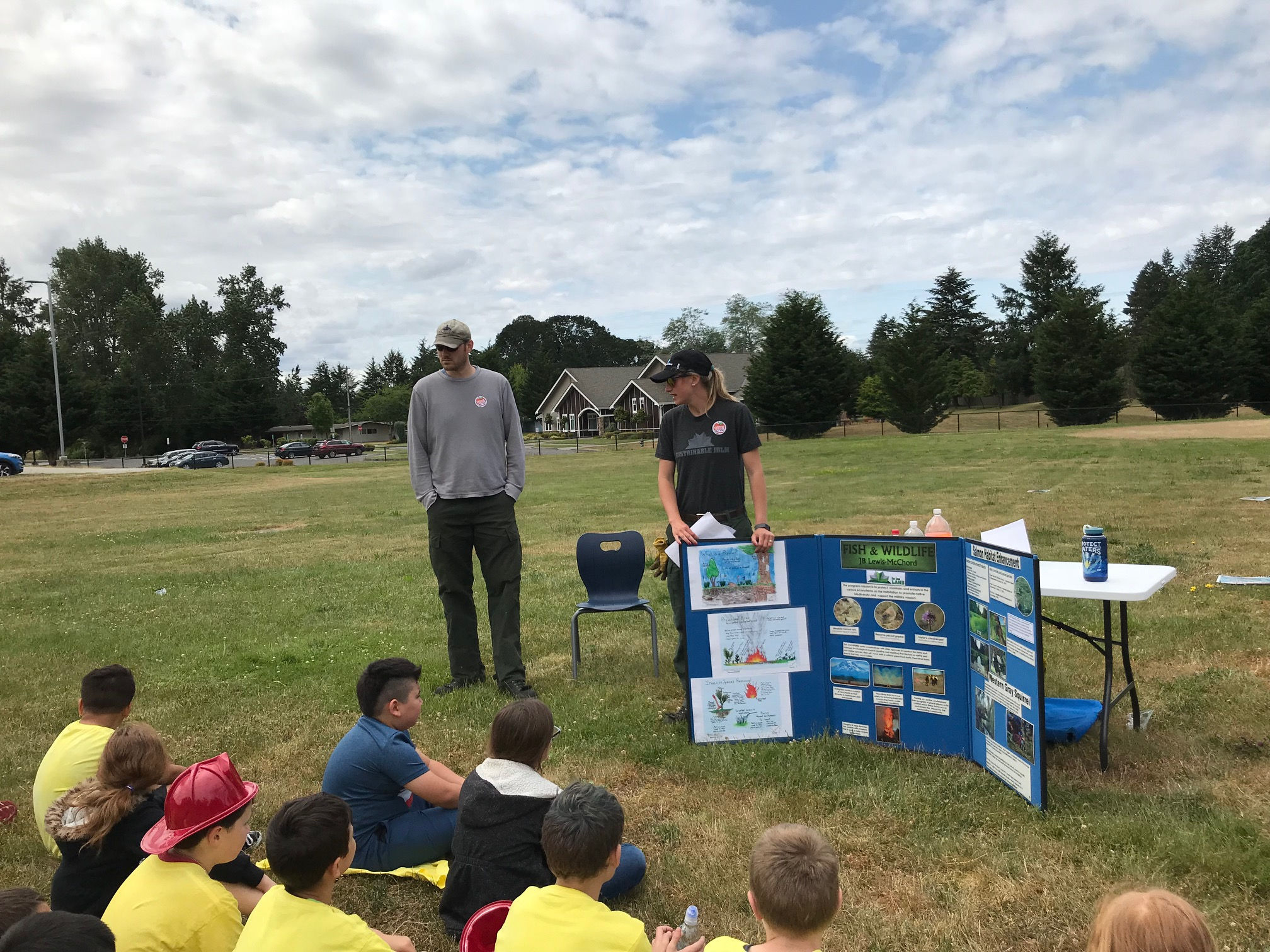JBLM Fish & Wildlife engaging JBLM youth during Camp Eagle.