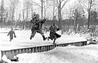Photo of troops participating in cold weather training in the 1940s