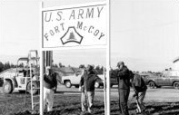 Photo of a new sign for U.S. Army Fort McCoy