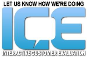 This is the Interactive Customer Evaluation (or ICE) logo
