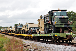 Photo: A locomotive for the Canadian-Pacific Railway is parked on a side rail in between moving railcars Sept. 27 at Fort McCoy. The rail loading and related work was completed by 829th Engineer Company Soldiers and employees with the Fort McCoy Logistics Readiness Center Transportation Division.