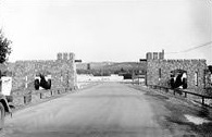 Photo of the Camp McCoy Gate around 1940