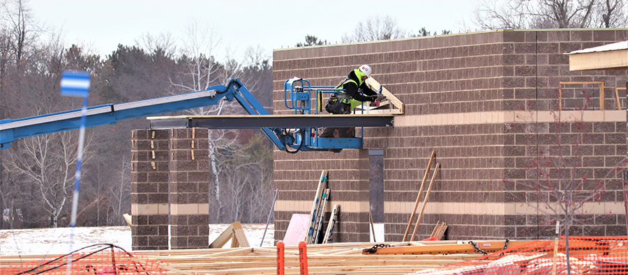 Numerous construction projects continue through winter
