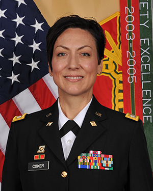 A photo of the Fort McCoy Deputy Garrison Commander, Lieutenant Colonel Sheila L. Coker
