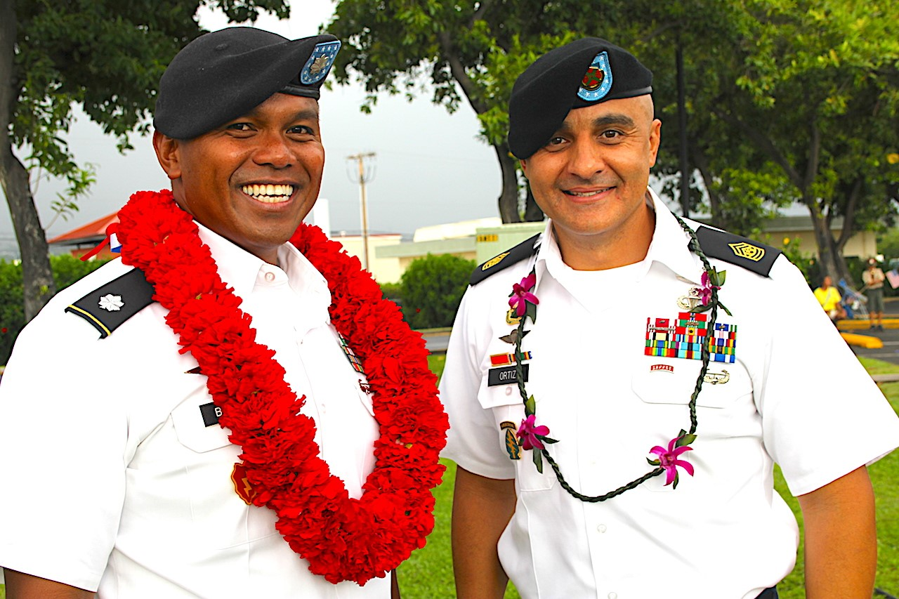 PTA Leadership Lt. Colonel Borce and Command Sgt. Maj. Ortiz