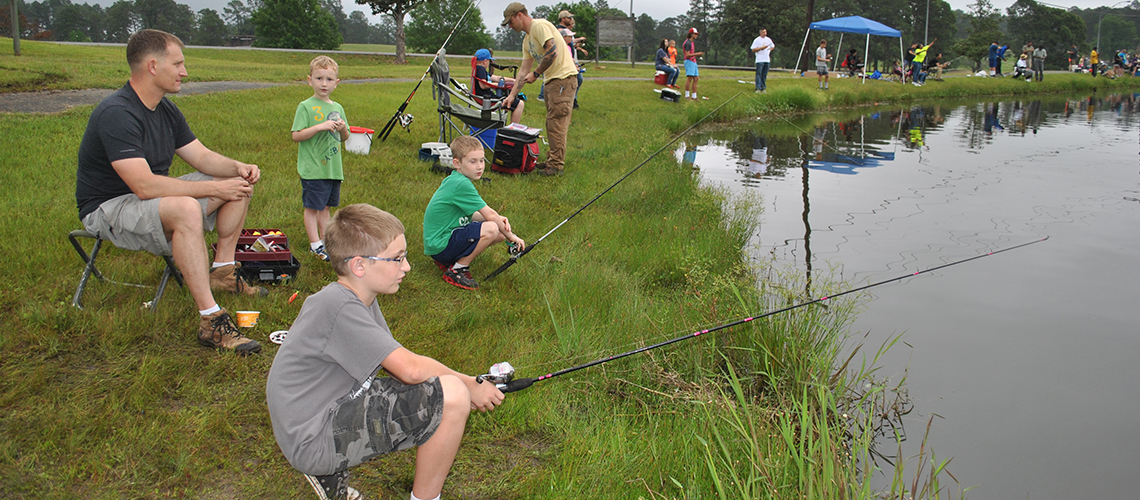Fort Polk youth enjoy a day of fishing at Catfish Cove