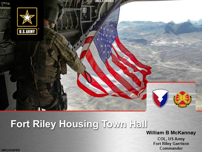 Fort Riley HSG Town Hall Slides.JPG