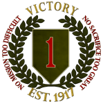 """1st Infantry Division """"Big Red One"""" Logo"""