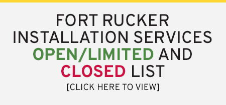 Fort Rucker Installation Services OPEN/LIMITED/CLOSED List