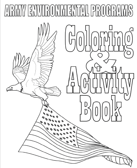 Army Earth Day activity coloring book